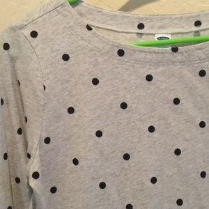NWOT polka dot 3/4 sleeve shirt